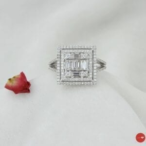 0.70 Ct F Color Baget Yüzük
